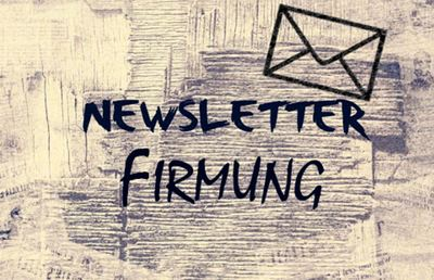 Newsletter Firmung April