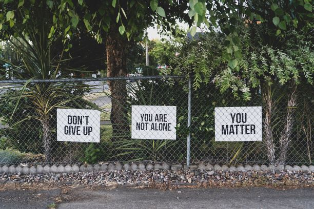 Dont give up - you are not alone - you matter